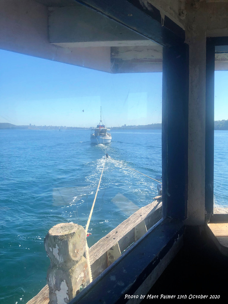 US Army WT85 (Protrude) under Tow from Abbotsford Bay, Sydney to Pittwater, 13th October 2020