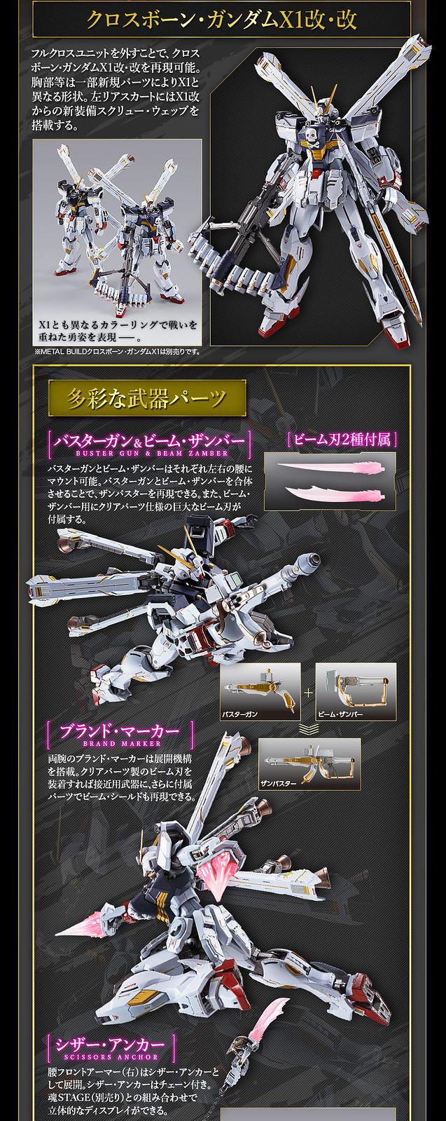 METAL BUILD 新作「海盜鋼彈X1 全覆式披風」最終決戰型態即將發表!