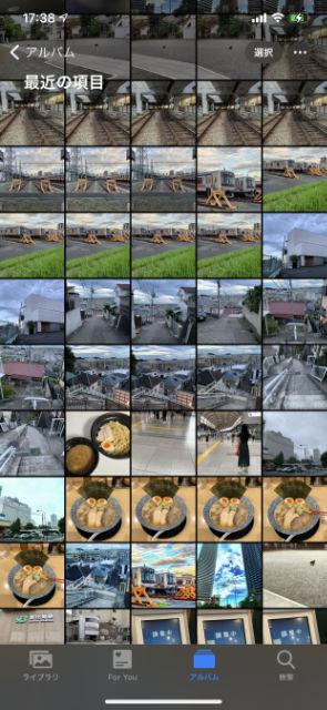 カメラロール正方形