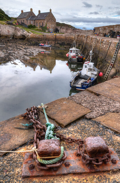 The harbour at Cove, Scottish Borders