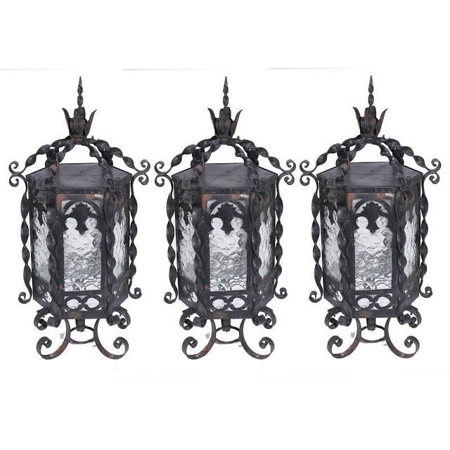 Three Arte Español Lamps