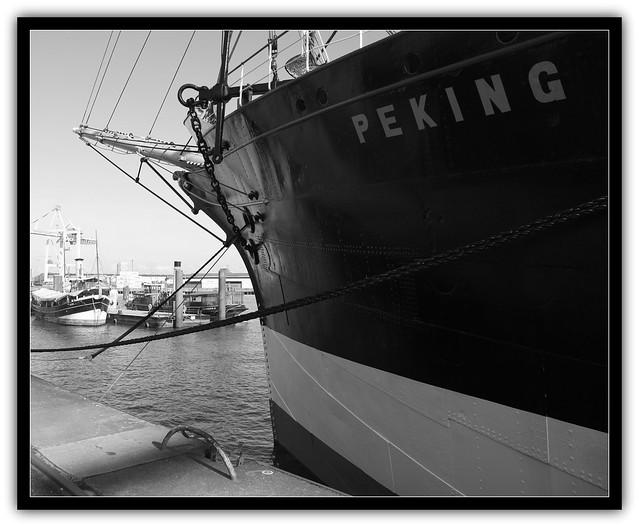Die Peking im Hansahafen