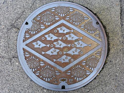 Fuse Shimane, manhole cover 2 (島根県布施村のマンホール2)