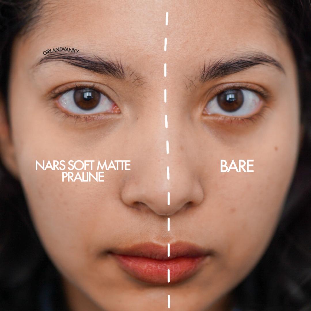 NARS Soft Matte Concealer Praline swatch medium tan skin olive skin