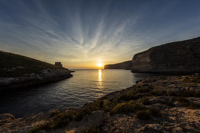 Xlendi Bay at Sunset