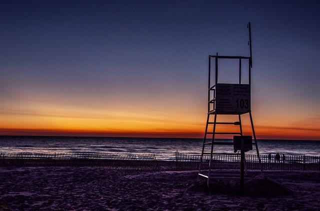 Blue Hour on Lake Michigan