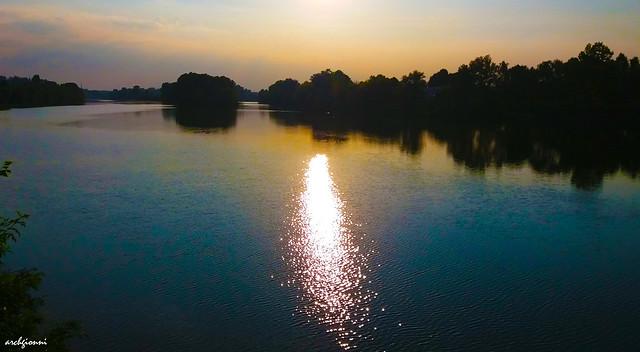 tramonto sul Po