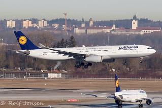 D-AIKB Airbus A330-300 Lufthansa Munich Airport EDDM 28.02-19