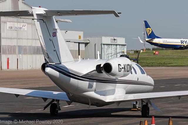 G-KION - 1998 build Cessna 525 Citation Jet CJ1, visiting East Midlands