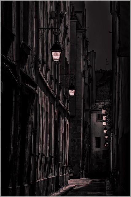 Quiet street at night - Explored