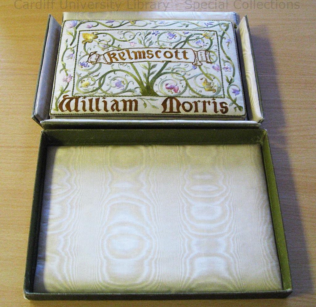 William Morris Hand Embroidered Book