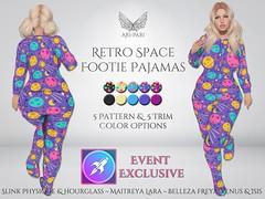 [Ari-Pari] Retro Space Footie Pajamas