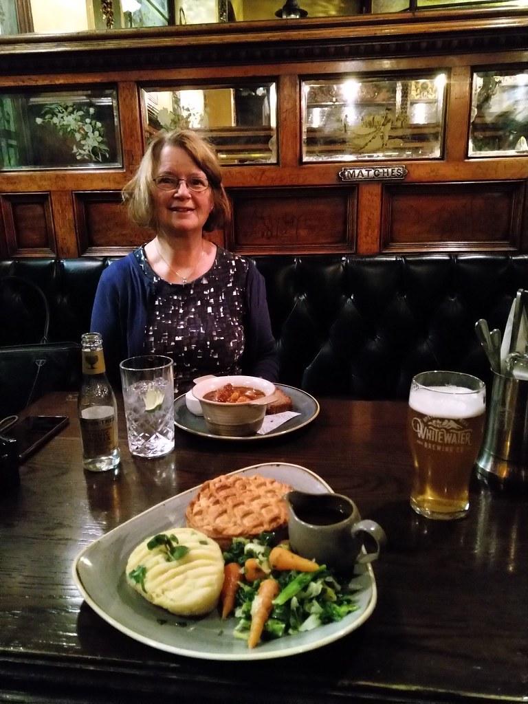 Dinner at the Crown Liquor Saloon, Belfast