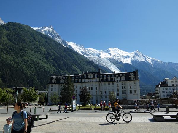 en arrivant à Chamonix