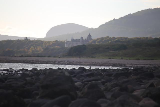 Approaching Dunrobin Castle