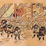現存最古の酒呑童子説話『大江山絵詞』(香取本)の絵巻物の詞書の文章や釈文や現代語訳や詞書・絵図の並び順など