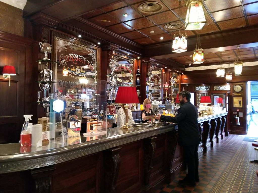 The bar of the Dark Horse, Belfast