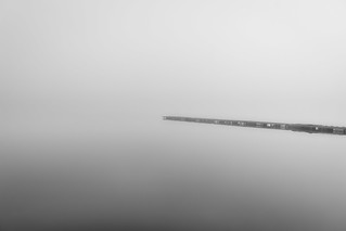 Jetty on a Foggy Lake | by Yuga Kurita