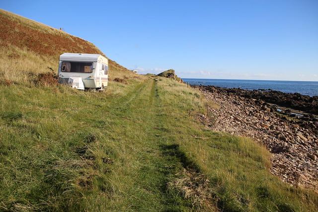 Caravan at Crackaig Links