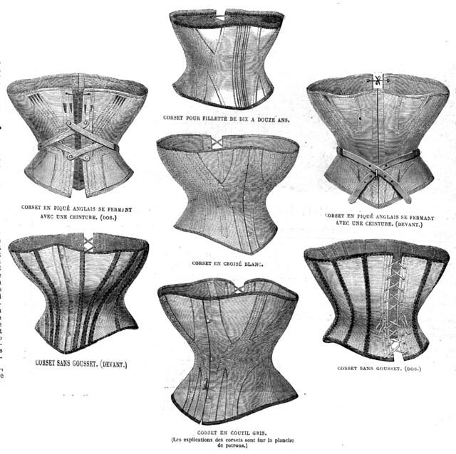 Corsets, La Mode Illustrée, 6 septembre 1868