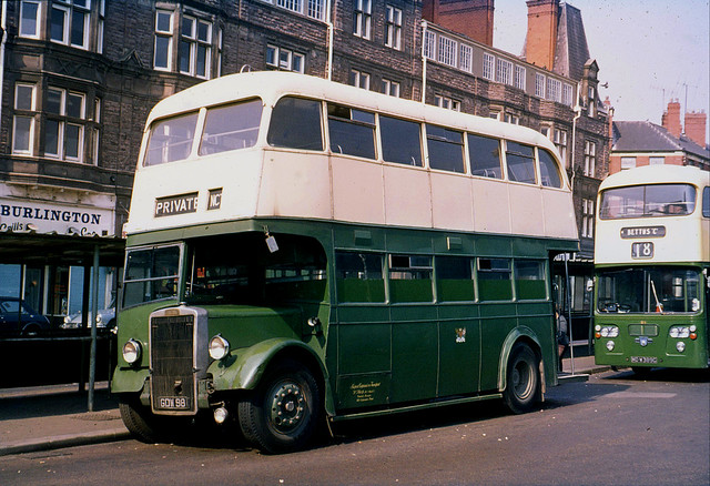 Newport Corporation Transport , South Wales . 31 GDW98 . Corporation Bus Station , Newport , South Wales . Sunday afternoon 05th-September-1971 .