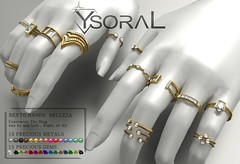 (BENTO)~~ Ysoral ~~ .:Set Luxe 14 Rings Aby: