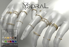 (SET BENTO)~~ Ysoral ~~ .:Luxe Set 18Rings Orlane:.