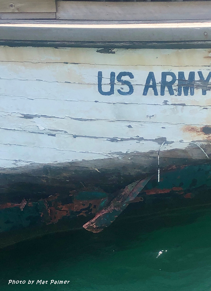 US Army WT85 (Protrude) on new Elvina Bay Pittwater Mooring 14th Oct 2020 with Popped Plank after tow from Abbotsford Bay, Sydney to Pittwater, 13th October 2020