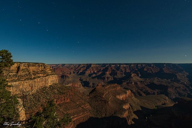 In the light of the full moon, Grand Canyon NP