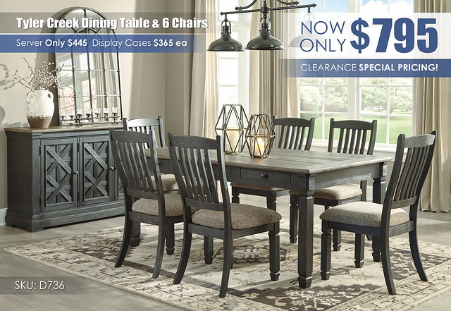 Tyler Creek Dining Table & 6 Chairs_D736-25-01(6)-60