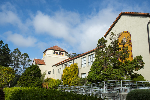 Blue sky above Founders | by Humboldt State University