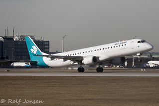 I-ADWJ Embraer 195 Air Dolomiti Munich Airport EDDM 17.02-19