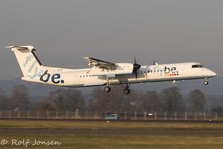 G-JECR Bombardier Dash 8-400 Flybe Glasgow Airport EGPF 22.11-18