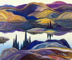 "1929- ""Mirror Lake"" - Franklin Carmichael (Canadian, 1890-1945) -"