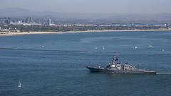 USS Paul Hamilton (DDG 60) returns to San Diego, Oct. 13. (U.S. Navy/MC2 Natalie M. Byers)