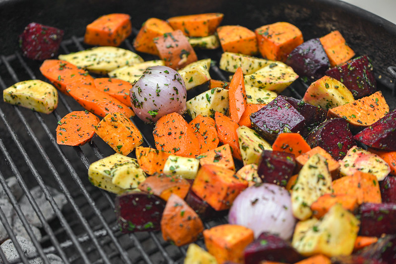 Grill-roasted Root Vegetables