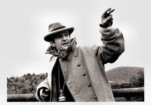 François Truffaut at the set of Jules et Jim (1961)