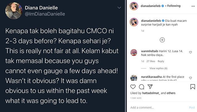 Pertikai Pkpb Diumum Saat Akhir, Diana Danielle Dikecam Netizen