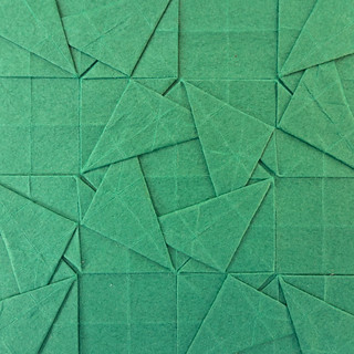 Woven Triangles Tessellation I molecule close-up