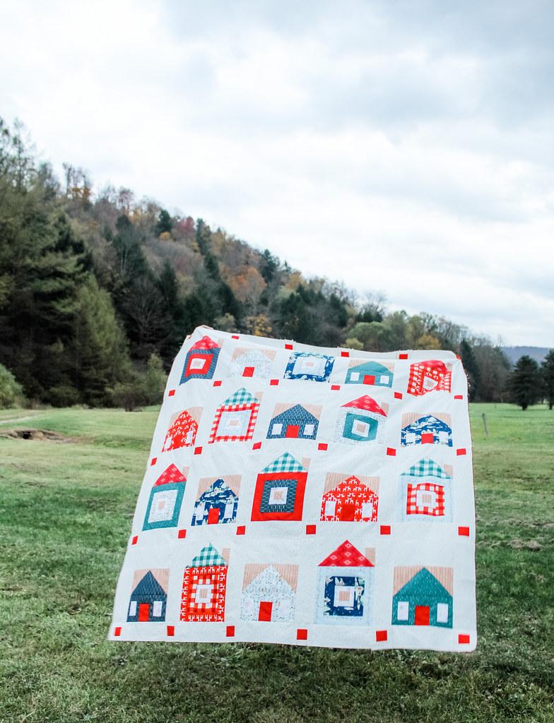 Sweet Home Quilt Top -- Cozy & Joyful