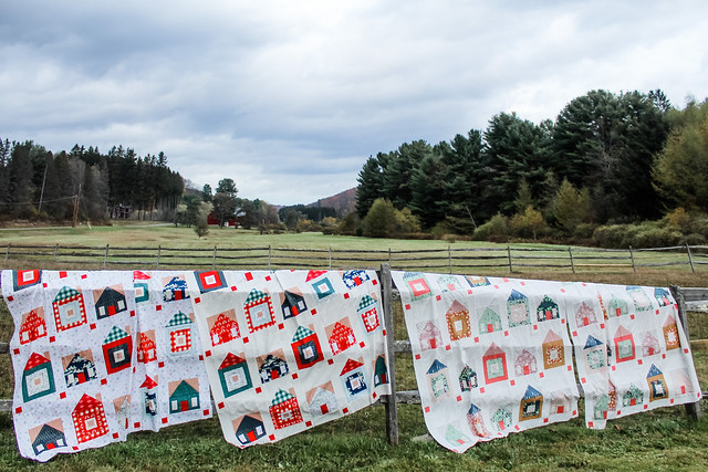 Sweet Home Quilt Tops -- four tops!