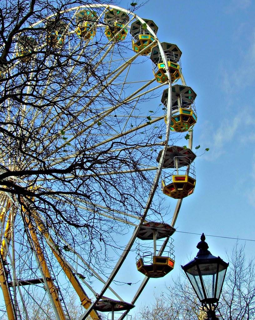 Big Wheel ride against blue sky skies