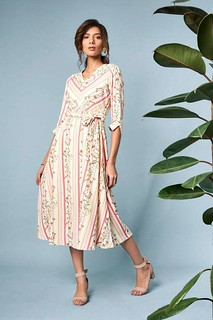 Buy Sustainable Clothing | Pink & White Dress for Women at ₹ 3,999 with AND