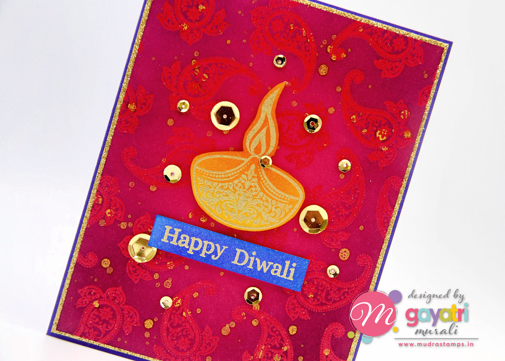 Happy Diwali card closeup3