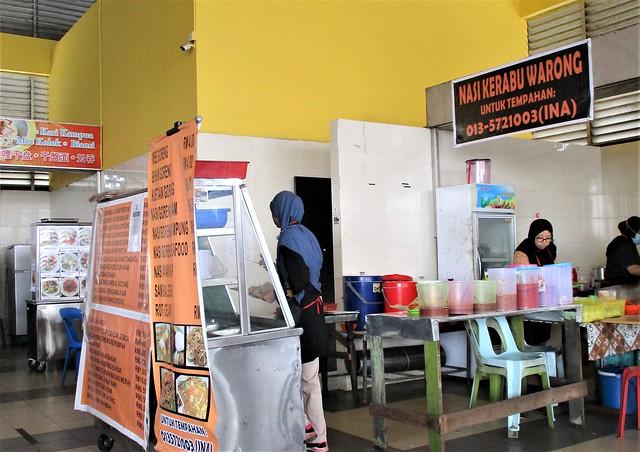 Nasi kerabu warong stall