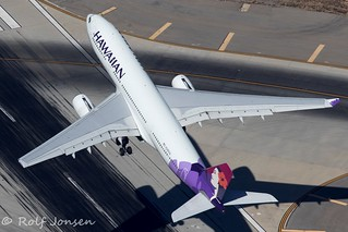 N385HA Airbus A330-200 Hawaiian Airlines Los Angeles Airport KLAX 14.09-18