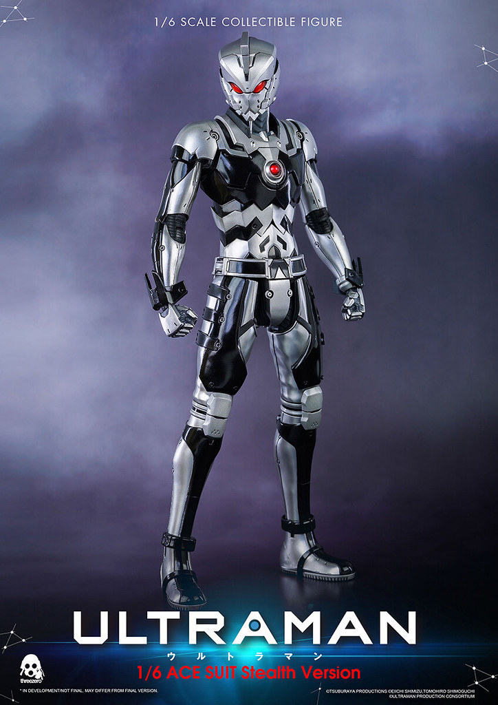 全球限量 300 體 threezero《ULTRAMAN》ULTRAMAN ACE SUIT(匿蹤配色)