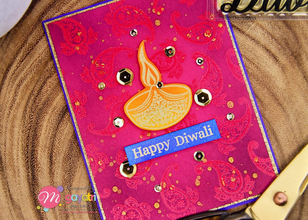 Happy Diwali card closep