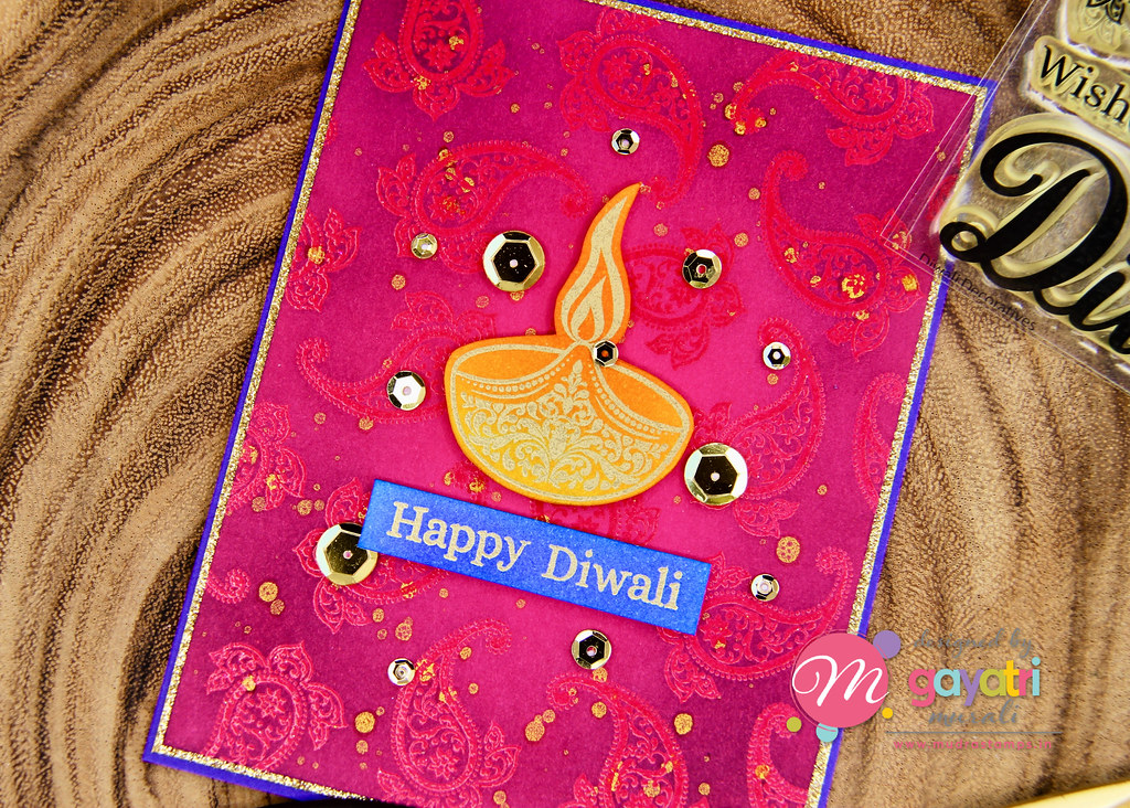 Happy Diwali card closeup1