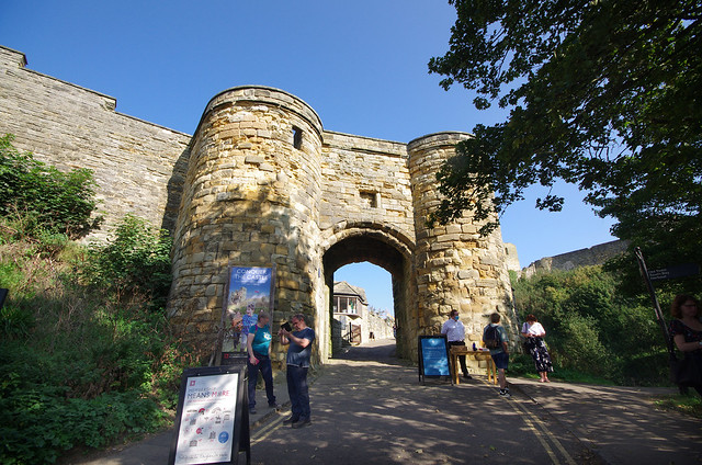 Scarborough Castle - the very steep approach!